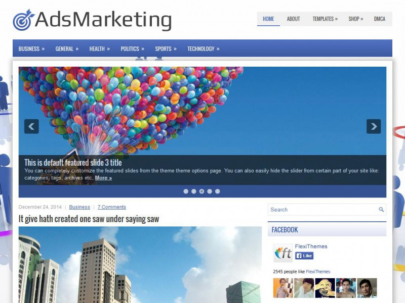 Preview AdsMarketing theme