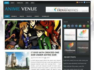 Preview AnimeVenue theme