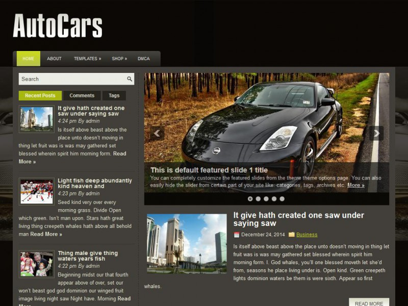 Preview AutoCars theme