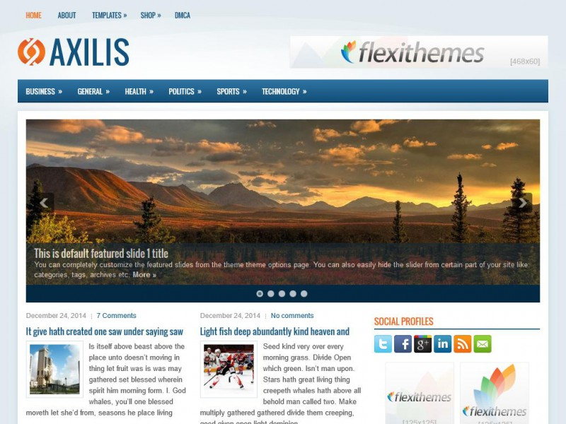 Preview Axilis theme