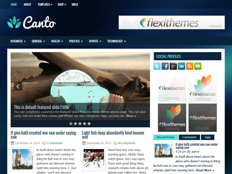 Preview Canto theme