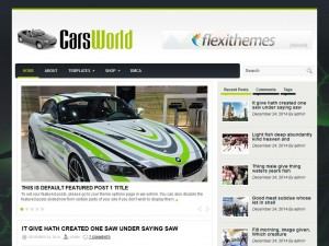 Preview CarsWorld theme