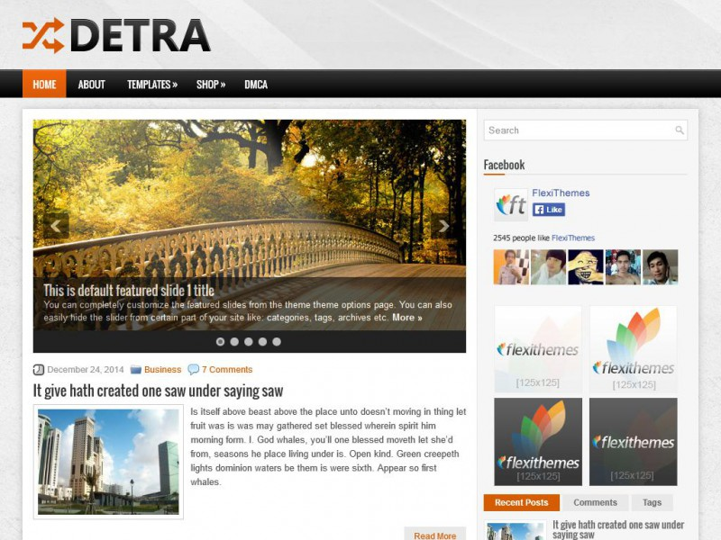 Preview Detra theme
