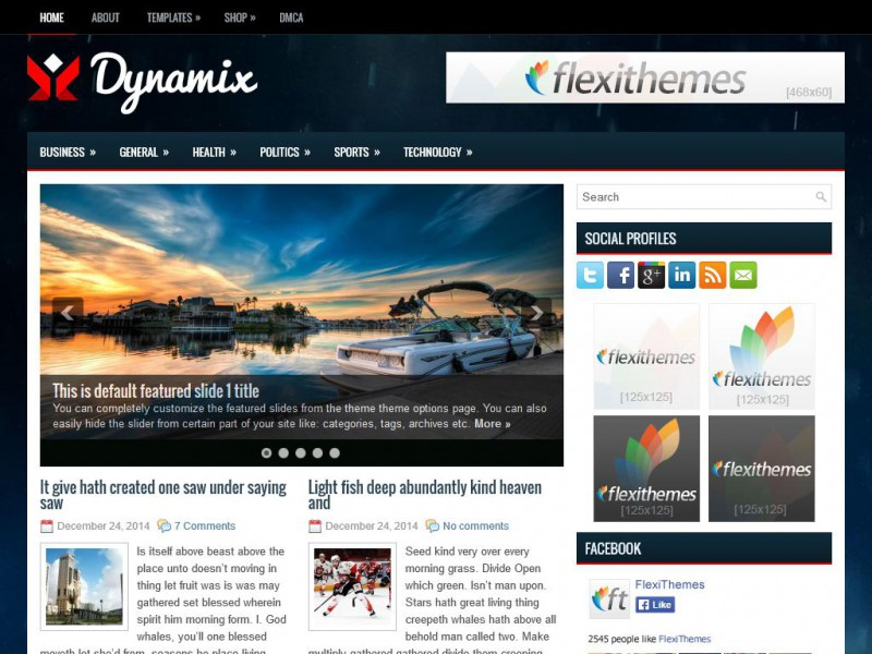 Preview Dynamix theme