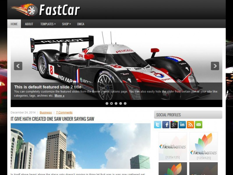 Preview FastCar theme
