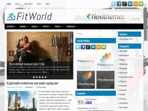 Preview FitWorld theme