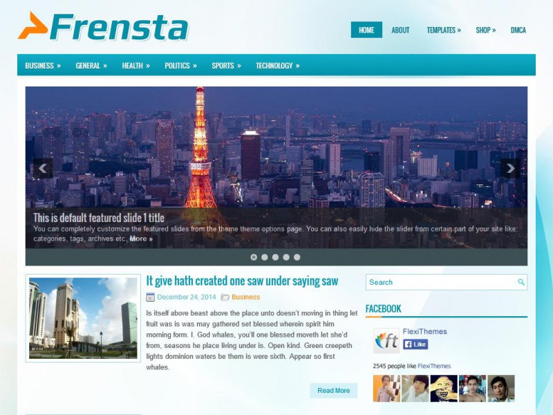 Preview Frensta theme