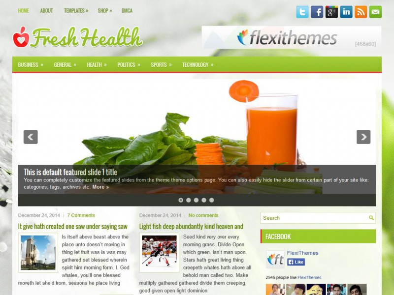 Preview FreshHealth theme