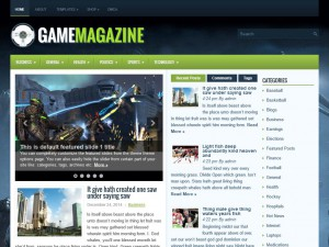 Preview GameMagazine theme