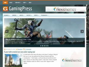 Preview GamingPress theme