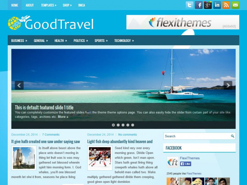 Preview GoodTravel theme
