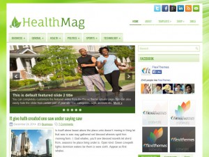 Preview HealthMag theme