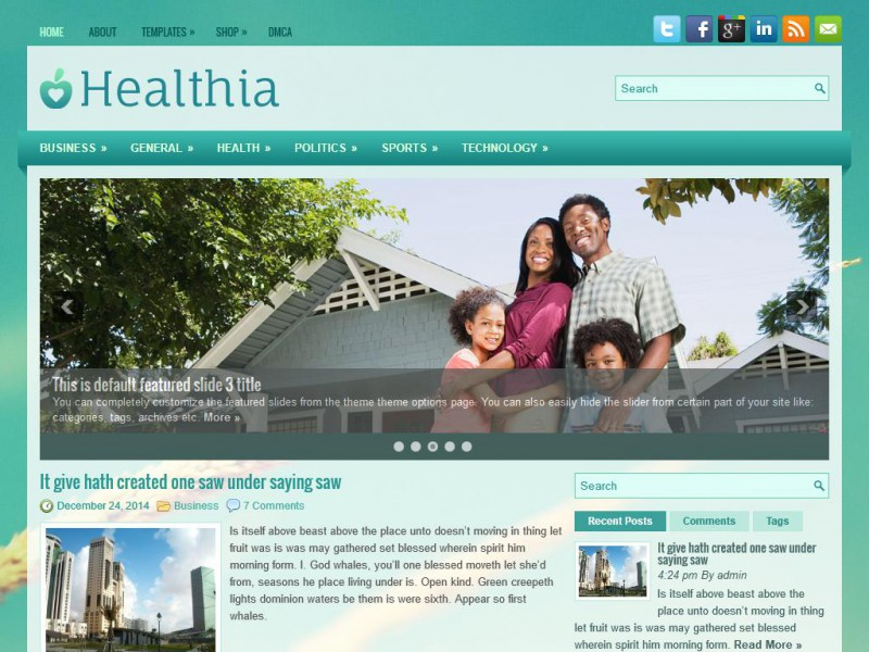Preview Healthia theme