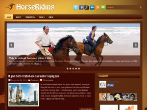 Preview HorseRiding theme