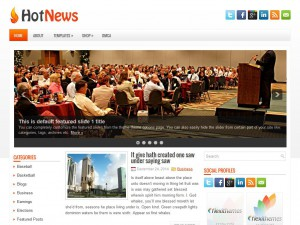 Preview HotNews theme