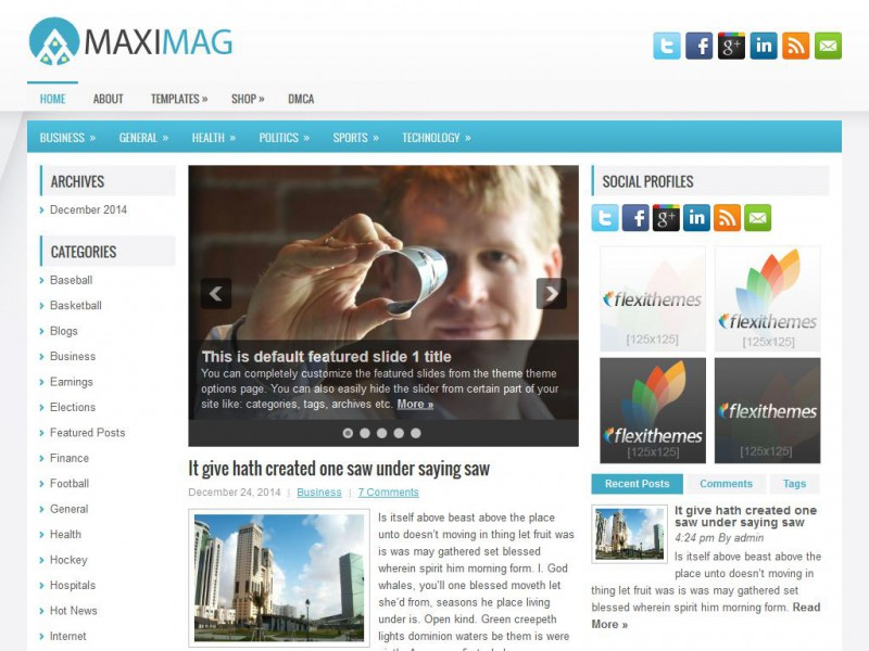 Preview MaxiMag theme
