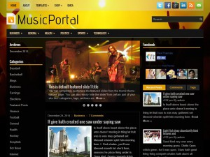 Preview MusicPortal theme