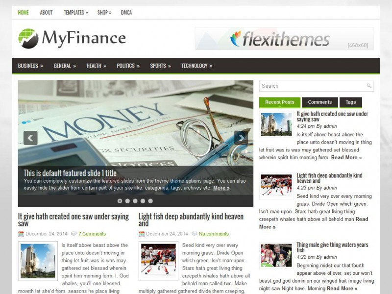 Preview MyFinance theme