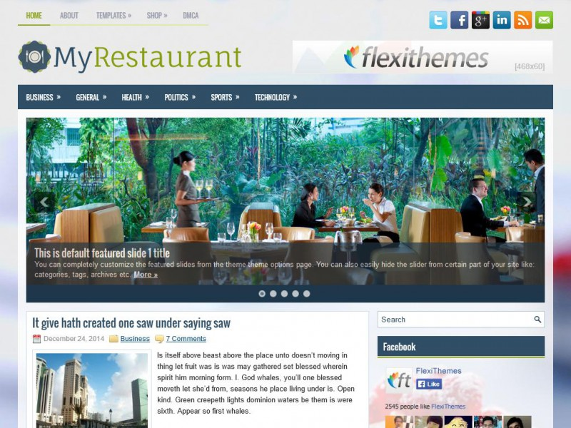 Preview MyRestaurant theme