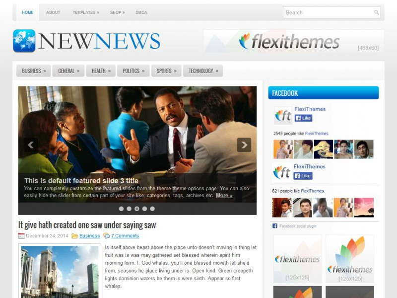 Preview NewNews theme