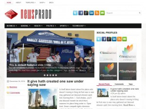 Preview NewsPrado theme