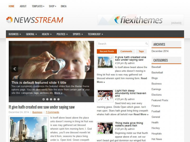 Preview NewsStream theme