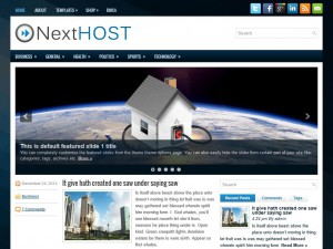 Preview NextHost theme