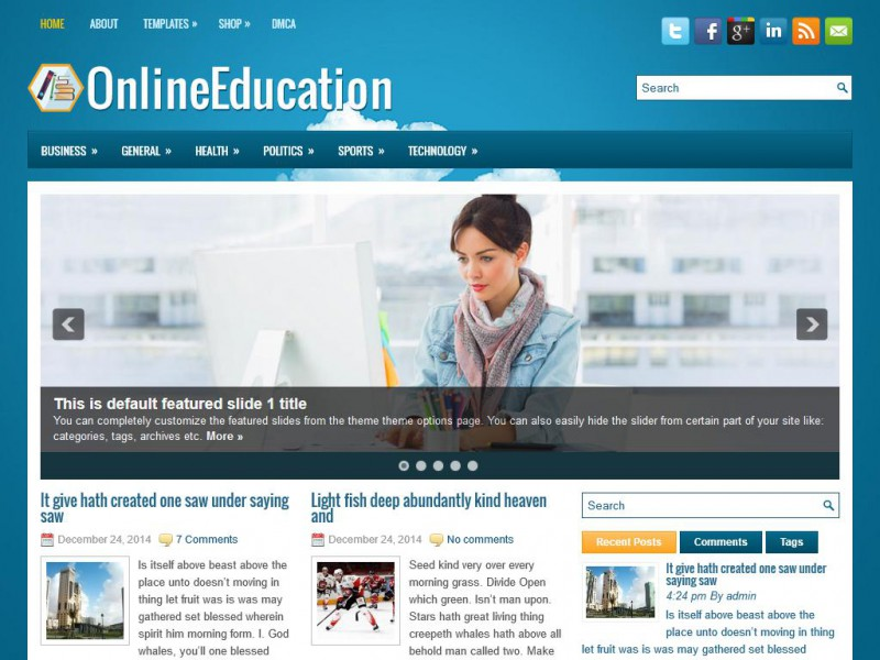 Preview OnlineEducation theme