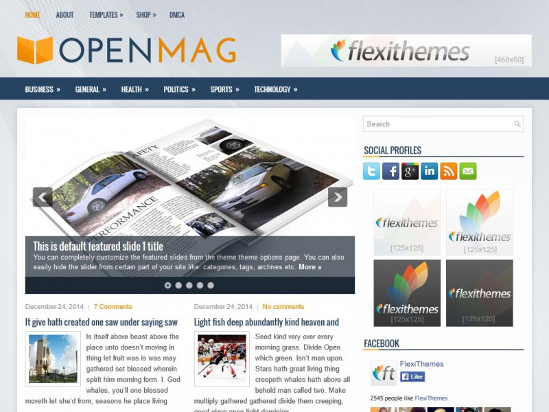 Preview OpenMag theme