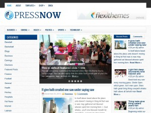 Preview PressNow theme