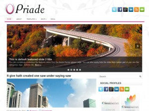 Preview Priade theme