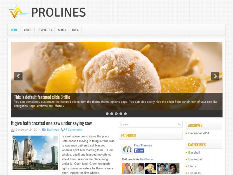 Preview ProLines theme