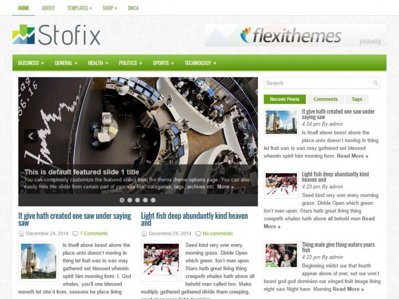 Preview Stofix theme
