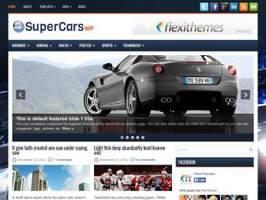 Preview SuperCarsWp theme