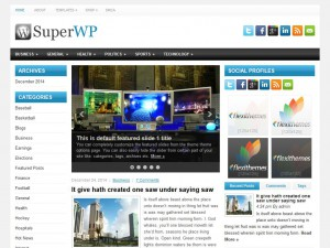 Preview SuperWP theme