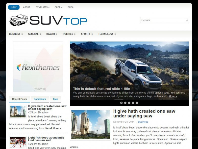 Preview SuvTop theme