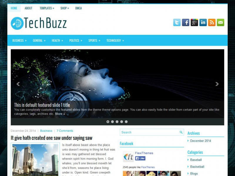 Preview TechBuzz theme
