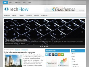 Preview TechFlow theme