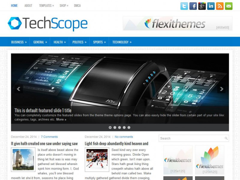 Preview TechScope theme