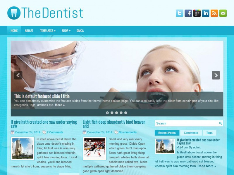 Preview TheDentist theme