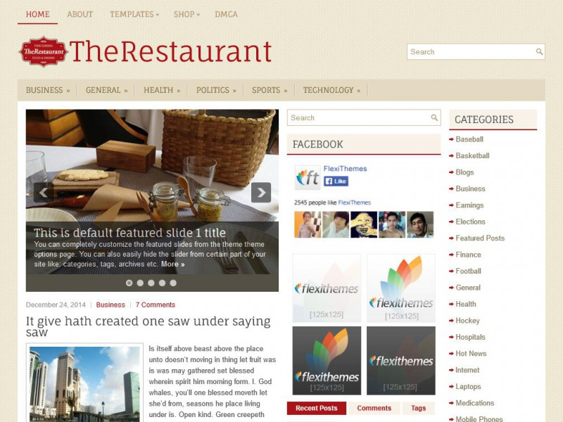 Preview TheRestaurant theme