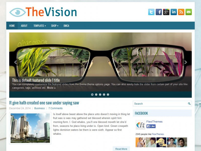 Preview TheVision theme