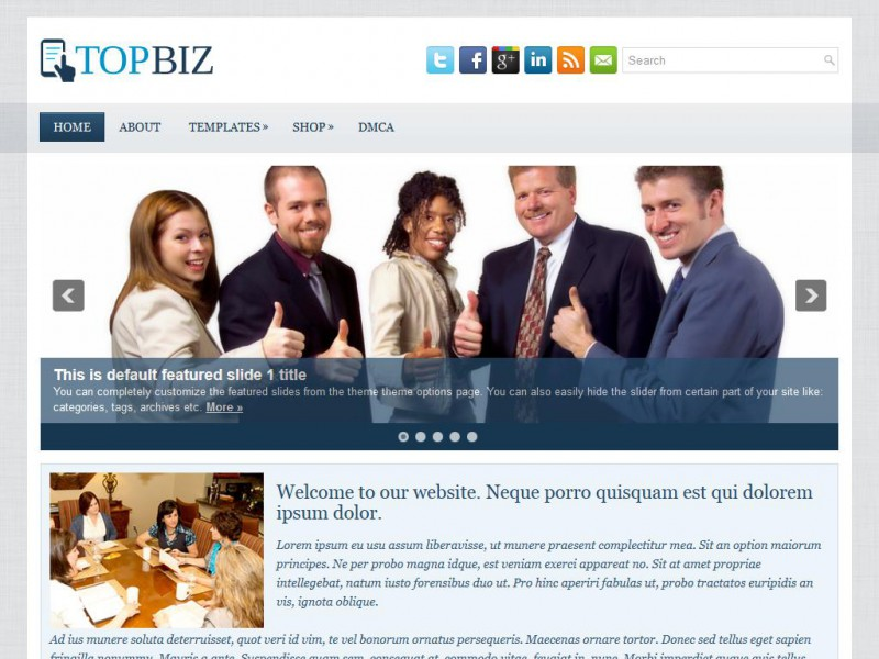 Preview TopBiz theme