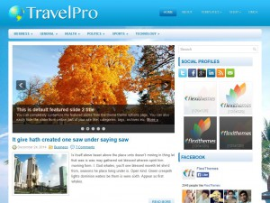 Preview TravelPro theme