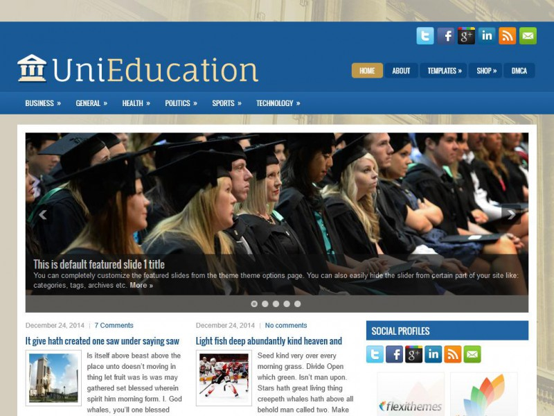 Preview UniEducation theme