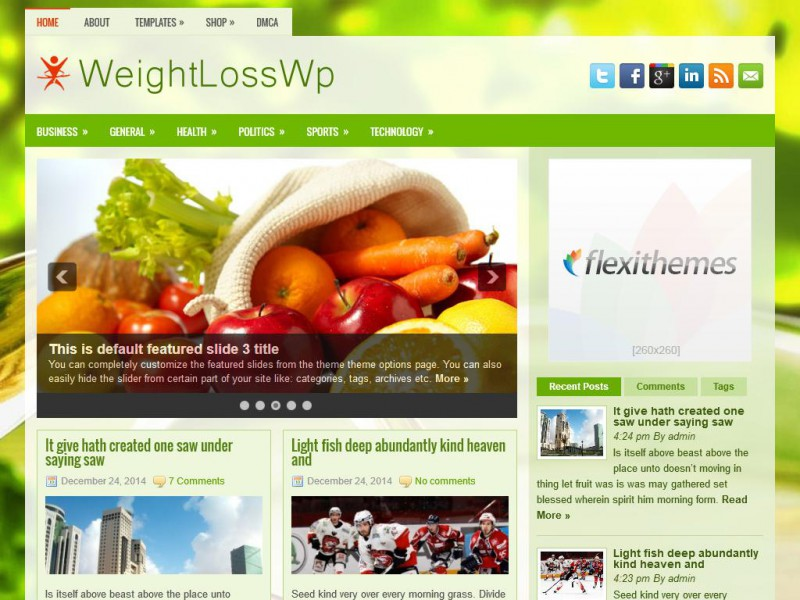 Preview WeightLossWp theme