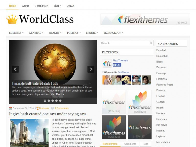 Preview WorldClass theme
