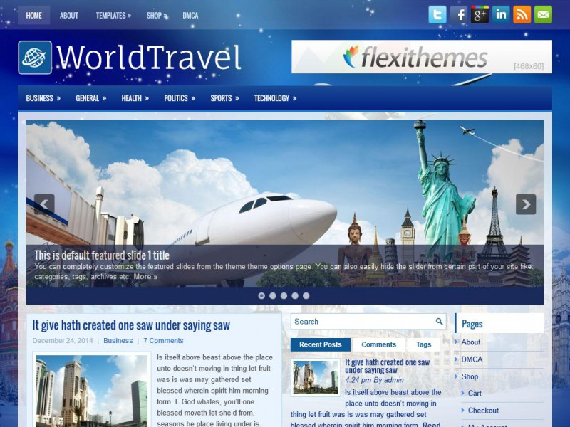 Preview WorldTravel theme
