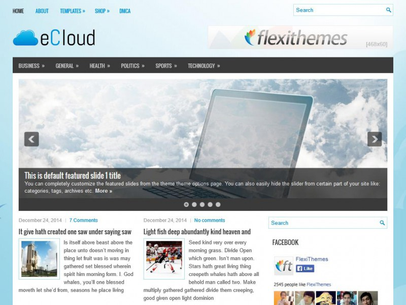 Preview eCloud theme