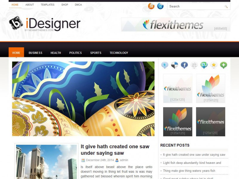 Preview iDesigner theme